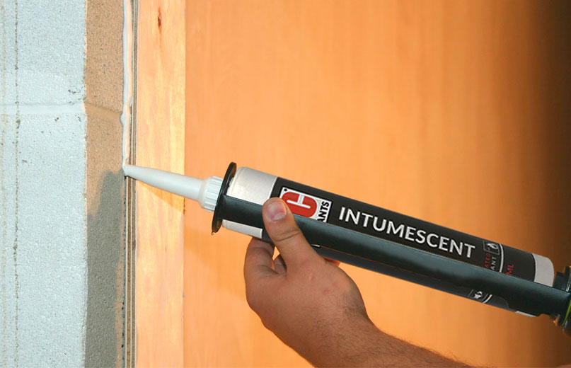 3C Intumescent Acoustic Joint In Wall