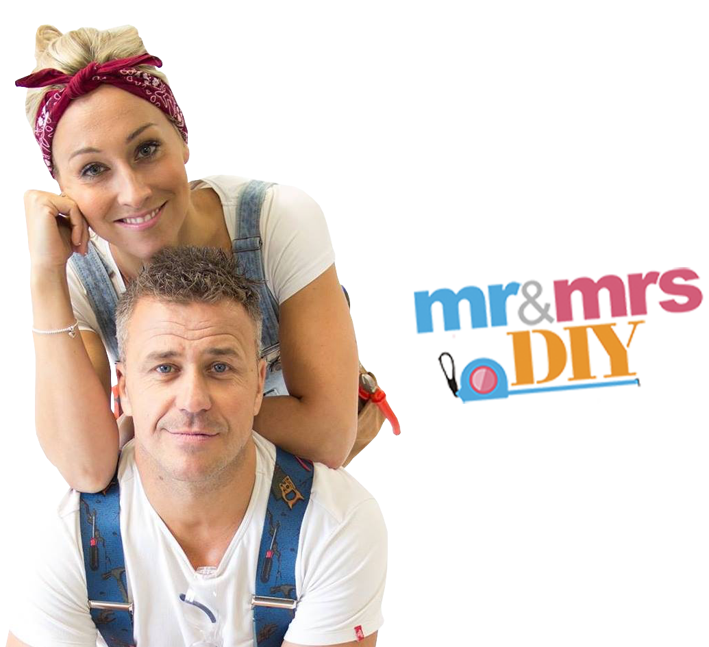 Mr and Mrs DIY with logo